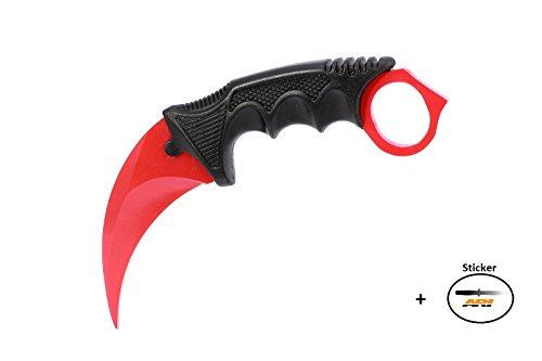 CSGO Karambit - Red Bloodlust - Real Knife Skin Scharf Counter-Strike Global Offensive Sammlerstück Jagdmesser - Bundle - Ariknives