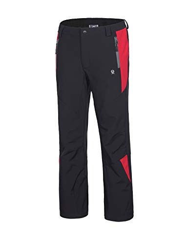 Little Donkey Andy Girls' Winter Hiking Ski Snowboarding Pants, Youth Softshell Pants, Fleece Lined and Water Repellant Black 140