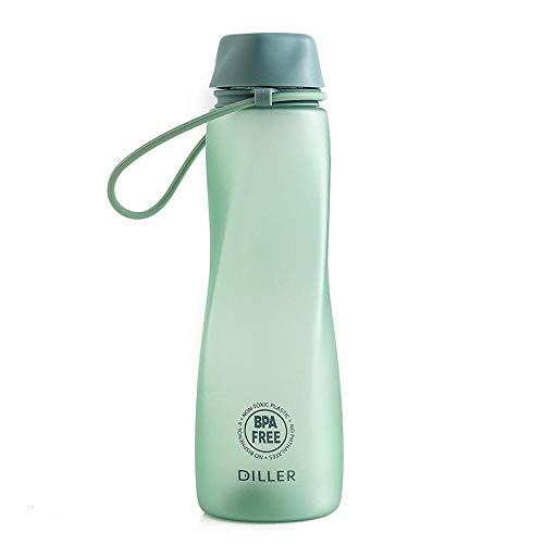 Taza plástica llv, botella de agua a prueba de fugas de estudiante femenino con cuerda, taza práctica de deportes