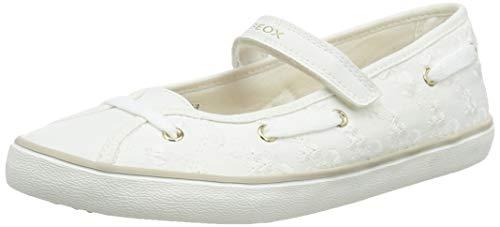 Geox Mädchen J Kilwi Girl C Geschlossene Ballerinas, Weiß (White C1000), 35 EU