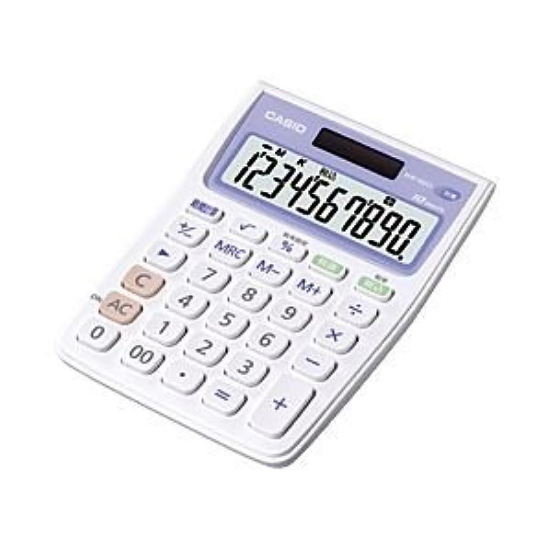 スチュワーデス行列蓋(業務用セット) カシオ(CASIO) 抗菌電卓 10桁 縦14.4×横10.5×厚さ2.6cm MW-102CL-N 1個 【×3セット】