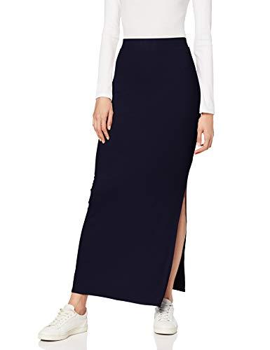 Marca Amazon - MERAKI Falda Maxi Slim Fit Mujer, Azul (Blue), XXX-Large