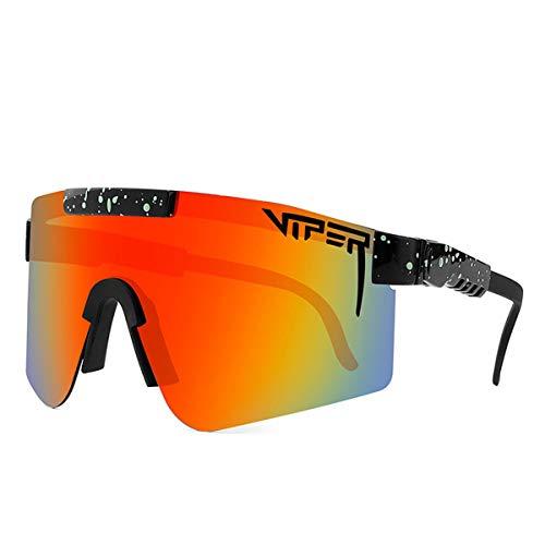 YANGXIAOYU Gafas de sol de ciclismo, marco grande, colorido galvanoplastia gafas de sol polarizadas película real, gafas de sol deportivas