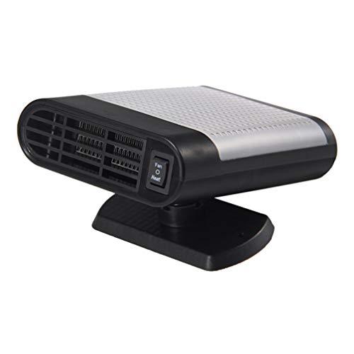 VOSAREA Riscaldamento portatile per parabrezza auto, 12 V, mini ventola di riscaldamento, riscaldamento, riscaldamento, defroster per auto, camion, furgoni e auto