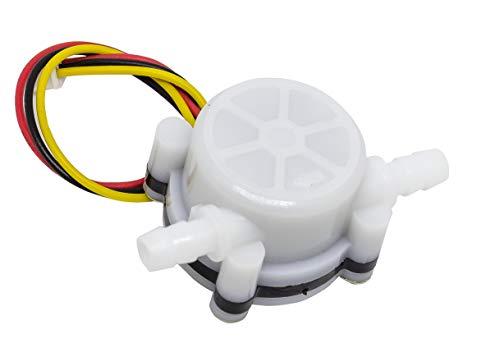 MissBirdler Durchflussmesser Durchflusssensor Hall Effekt Transistor Sensor YF-S401 f. Arduino Raspberry Pi