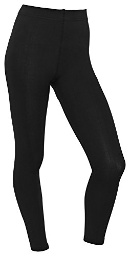 Piarini Damen Thermo Leggings Innenfleece lang - Innenfleece extra warm - blickdicht schwarz 36/38