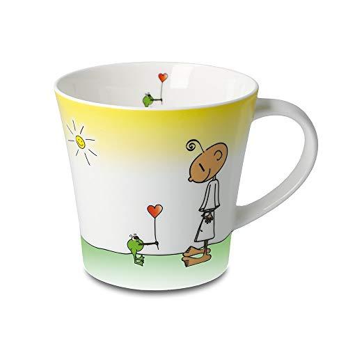 DER KLEINE YOGI: Kaffee-/Teetasse - Glücklich - NEU