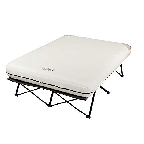 Coleman Camping Cot with Air Mattress | Folding Airbed with Side Tables and 4D Battery Pump for...