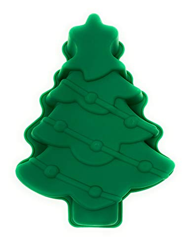 Coop & Hunt Christmas Tree Cake Pan 3D Silicone Christmas Baking Molds for Holiday Parties (1)