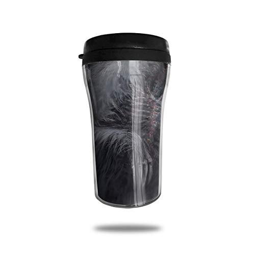 OUYouDeFangA Dark Souls REH Reise-Kaffeetasse, 3D-Bedruckt, tragbar, Vakuumbecher, isolierte Teetasse, Wasserflasche, Trinkbecher mit Deckel, 250 ml