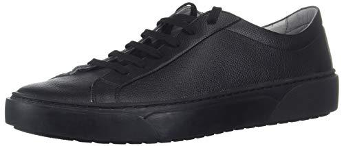 TCG Men's Premium Shoe Kennedy All Leather Low Top Lace Sneaker, Triple Black, 46 Regular EU (13 US)
