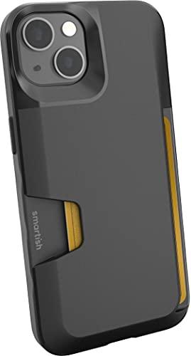 Smartish iPhone 13 Wallet Case - Wallet Slayer Vol. 1 [Slim + Protective] Credit Card Holder - Black Tie Affair