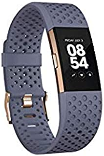 Fitbit Charge 2 Heart Rate + Fitness Wristband, Special Edition, Blue Rose Gold, Small -1 Count (US Version)