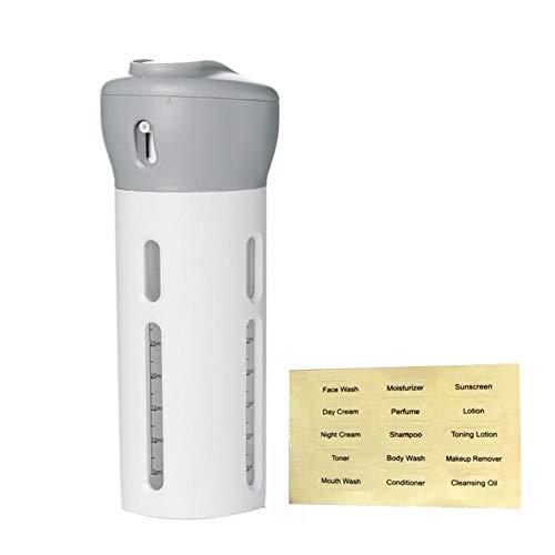 Snow Island Tragbarer 4-in-1 Lotionspender für Shampoo, Duschgel, Unterflasche, Reiseflasche, Creme-Flasche