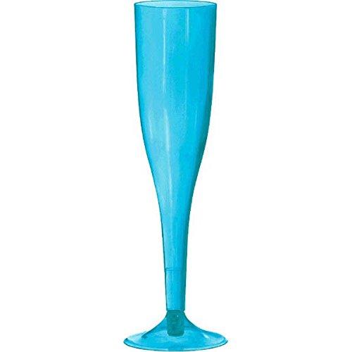 amscan 160 ML de 18 flûtes à Champagne en Plastique de Haute qualité Bleu