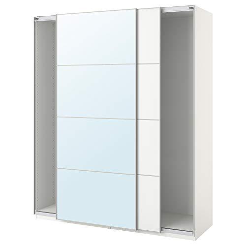PAX armadio con ante scorrevoli 200x43.5x234 cm bianco/Auli Färvik