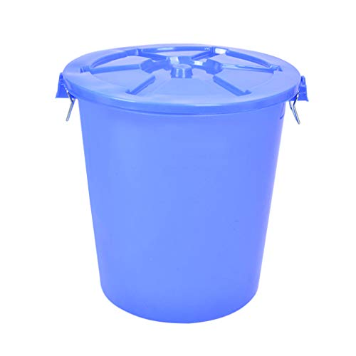 New LXF Outdoor Waste Bins Outdoor Plastic Waste bin, Trash can, Trash can, Heavy Color Trash can 85...