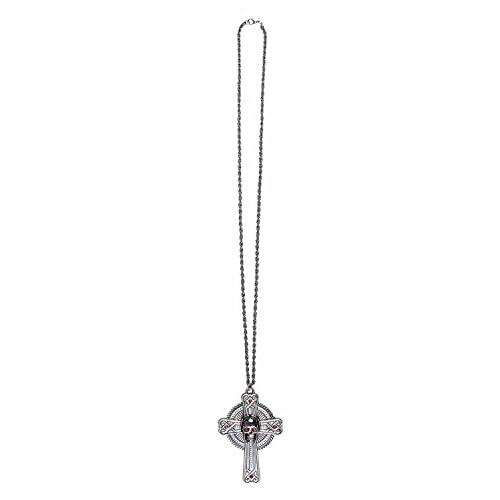 Collana Skull Cross con pendente croce in metallo