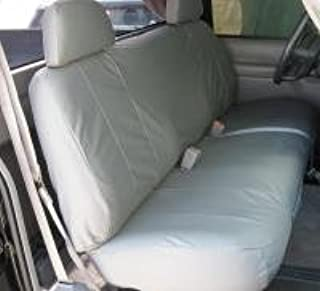 Durafit Seat Covers, C972-C8, 1995-2000 Chevy 1500-2500 Silverado & Full Sized Work Truck, Front Low Back Solid Bench with Adjustable Headrests, Exact Seat Covers, Gray Endura Fabric