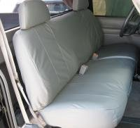 Durafit Seat Covers, C972-C8, 1995-2000 Chevy 1500-2500 Silverado & Full Sized Work Truck, Front Low Back Solid Bench with Adjustable Headrests, Exact Seat Covers, in Gray Endura Fabric