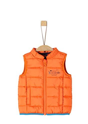 s.Oliver Baby-Jungen 59.908.53.2112 Weste, Orange (Orange 2335), (Herstellergröße: 74)