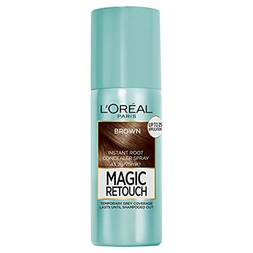 L'Oréal Paris Magic Retouch Temporary Root Concealer Spray - Brown(Instant Grey Hair Coverage)