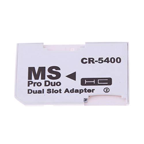 Lector de tarjetas – Dual ranura TF a MS Micro SD lector Memory Stick adaptador Produo Convertidor para PSP Collectsound