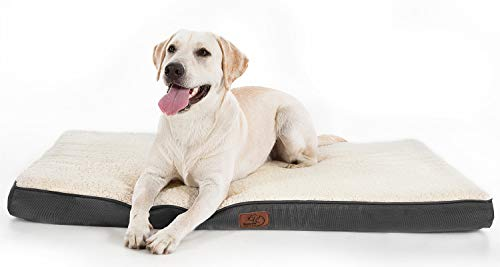 Bedsure Large Dog Bed for Small, Medium, Large Dogs/Cats Up to 75 lbs - Orthopedic Egg-Crate Foam with Removable Washable Cover - Water-Resistant Pet...