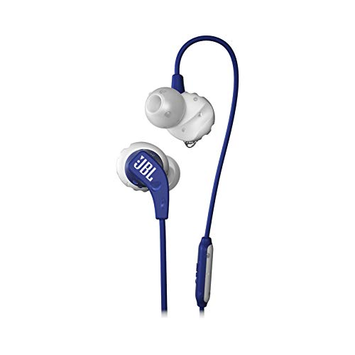 JBL Endurance Run, in-Ear Sport Headphone with One-Button Mic/Remote - Blue