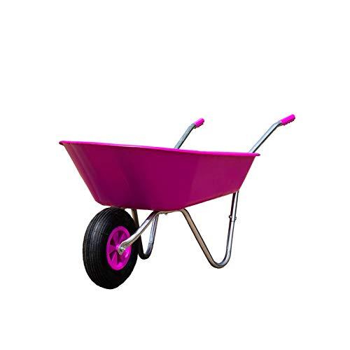 HTI-Line Schubkarre Havel 65 Girl Gartenschubkarre Mehrzweckkarre Muldenkarre Bauschubkarre Einradkarre Mistkarre Transportkarre Pferdemist Pink Girl