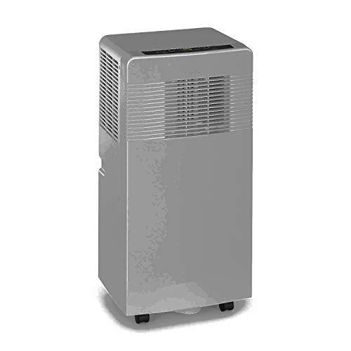KLARSTEIN Iceblock Ecosmart - Aire Acondicionado portátil 3 en 1, Enfriar, Extraer Humedad y ventilar, Clase A, Control por app móvil, 4 ruedas, para Salas de 21 a 34m², 7.000BTU/ 2050 W, Gris claro