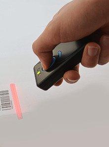 Albasca Lector de c/ódigos de barras manual USB CCD 82mm color beige 100 lecturas//segundo