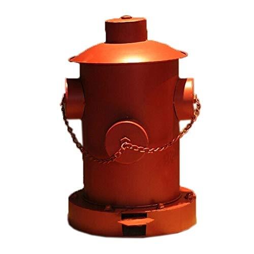 KGDC Cubos de Basura Bote de Basura Industrial del Hierro labrado Pedal de Basura Industrial del Viento Bote de Basura de la Barra de la Familia Papelera de Reciclaje (Color : A)