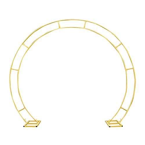 Wgwioo Arco De Metal, Accesorios De Decoración De Bodas/Fiestas, Soporte De Arco De Jardín/Cenador, Decoración De Arco De Globo De Círculo De Metal