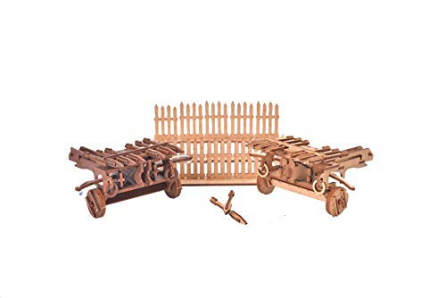 I Built It - Set of 2 Ballista with Target - Siege Weapon - Wooden Model Kit - Medieval Europe - 3D Puzzle - 28mm Scale (Architectural Model Kit) Do It Yourself (DIY) - Scale Model Kits - Indoor Games