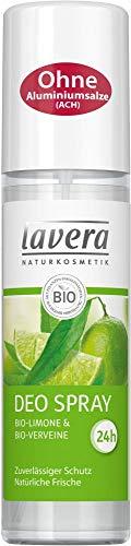 Lavera Desodorante en spray orgánico de limón y bio, 3 unidades (3 x 75 ml)