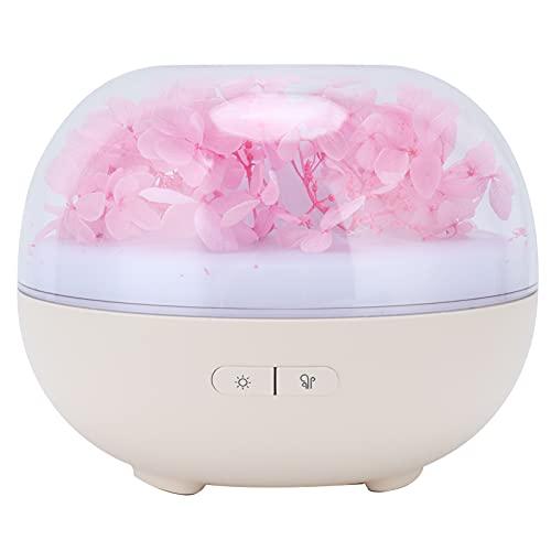 Atyhao Mini humidificador, difusor de aromaterapia de Flores preservadas de 180 ml, difusor de Aroma de Escritorio con luz de 7 Colores para el Coche de la Oficina del Dormitorio del bebé