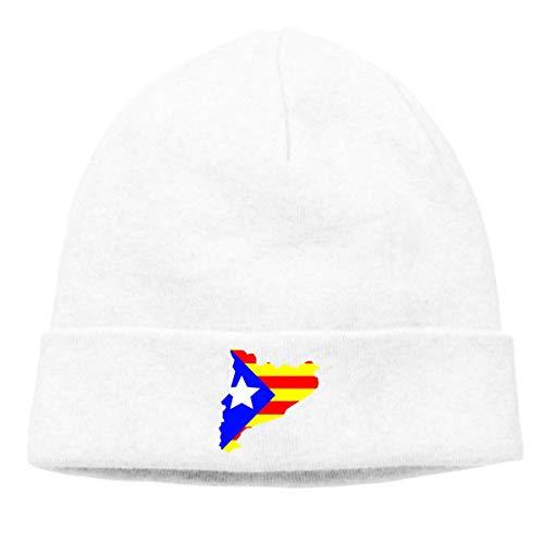 Catalunya Country Flag Catalua Hombres Mujeres Sombrero De Lana Sombrero De Vendedor De Peridicos Al Aire Libre Beanie Gorro De Invierno,Slouch Beanie Sombreros,Hombre Gorros De Punto
