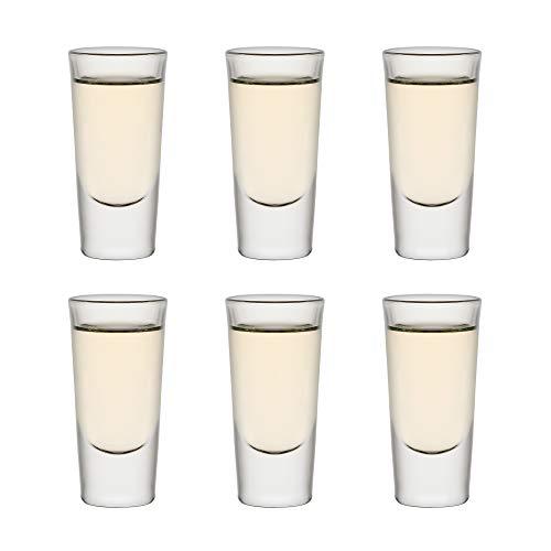 Libbey Vaso de trago corto Tequila Shooter - 30 ml / 3 cl - 6 Unidades - Vaso de trago corto - Ideal para juegos de beber - Apto para lavado en lavavajillas