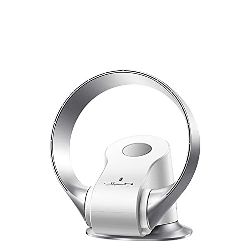 Bladeless Tower Fan with Remote Control and Touch Control 4 Speeds 9h Timer Portable Quiet Air Floor Standing Cooling Fan for Bedroom Living Rooms Office (Color : Silver)