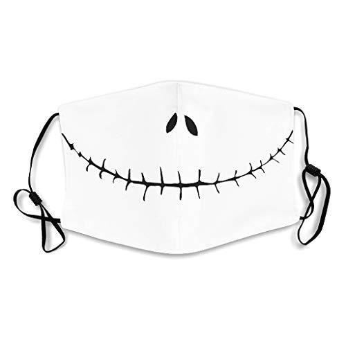 Generic Branded Rave Gesichtsbedeckung Spaß Halloween Lächeln Gesicht Albtraum Druck Nasen- und Mundbedeckung Männer und Frauen white4 with 5 filters