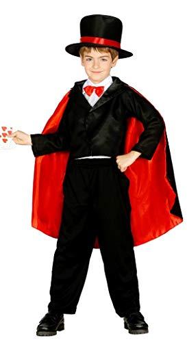 Guirca 85893 Déguisement de magicien, taille 10-12 ans, noir