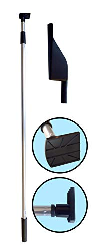 Gutter Hoe - Gutter Cleaning Tool. Telescopic Pole with attached Scraper Blade. A flexible scoop is included.