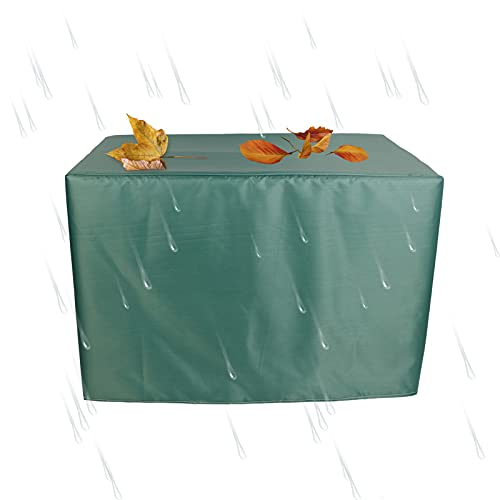 XIGG Funda Protectora Muebles Jardin Impermeable Grande 123x123x74cm, Funda Protectora Sofa Exterior Rectangular, Funda para Mesas Y Sillas Al Aire Libre, 420d Oxford Resistente Al Polvo