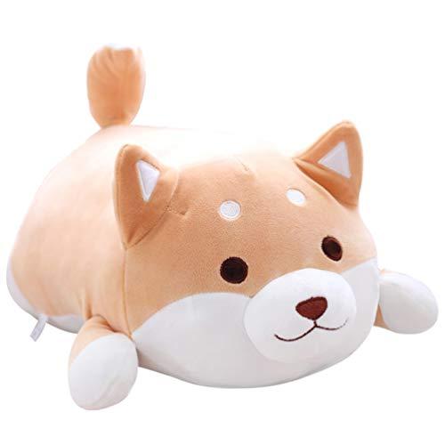 Tomaibaby Almohada de Felpa para Perro Shiba Inu Lindo Muñeco de Peluche de Akita Lindo Almohada Oficina Dormitorio Sala de Estar