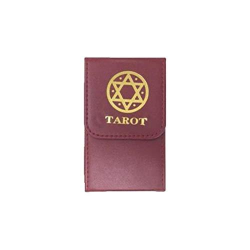 Tarotkarten Box, Tarot Aufbewahrungsbox, doppelschichtige tragbare Aufbewahrungshülle aus Leder für Tarot Deck Poker Card Aufbewahrung Tarotliebhaber