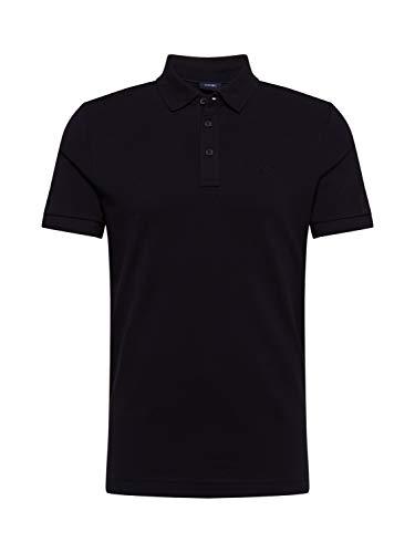 Joop! Poloshirt Primus Halbarm geknöpfter Kragen Pique schwarz Größe XL