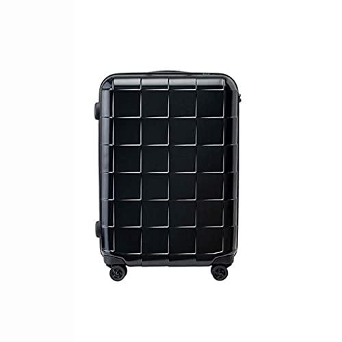 Pull Suitcase, Maleta de Viaje, Maleta de Estilo británico, Inserción de bolsita para jóvenes Estudiantes internacionales (Color: Negro, Talla: 24)