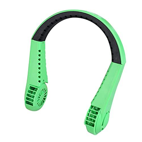 Crazyfly Mini ventilador de cuello sin cuchilla, recargable por USB, portátil, 3 velocidades ajustables para deportes en interiores y exteriores