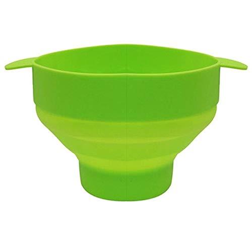 RAP Popcorn Bowl Magnetron Oven Vouwen Popcorn Emmer Hoge Temperatuur Grote met Deksel Emmer Popcorn Bowl France Groen
